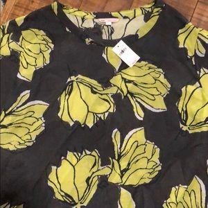 GAP Floral Short Sleeve Blouse